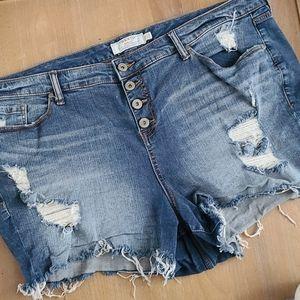 Torrid Distressed Cutoff Jean Shorts Size 26